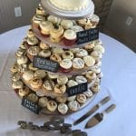 Wedding Cupcake Cake with Chalk Board Signs