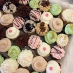 Variety of wedding cupcakes