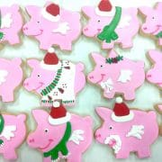 Flying Pig Christmas Cookies