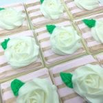Blush, Gold and White Rosette Cookies