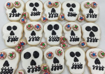 Skull and Eye Ball Cookies