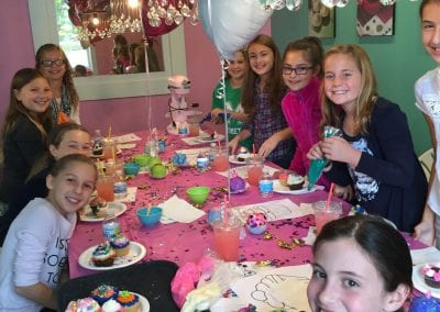 Cupcake Decorating Party in the Party Room