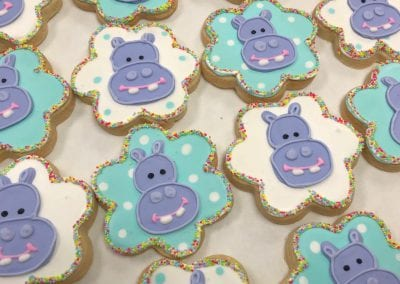 Hippo Cookies | 3 Sweet Girls Cakery