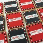 Hopeline from Verizon Corporate Logo Cookies