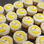 Queen Bee Corporate Logo Cupcakes