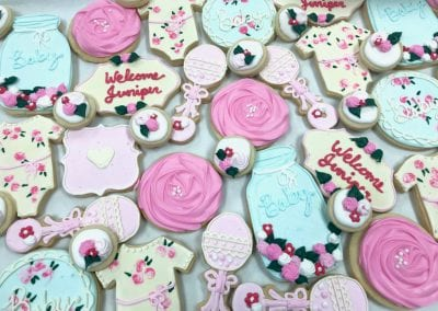 Vintage Baby Shower Cookie Assortment | 3 Sweet Girls Cakery