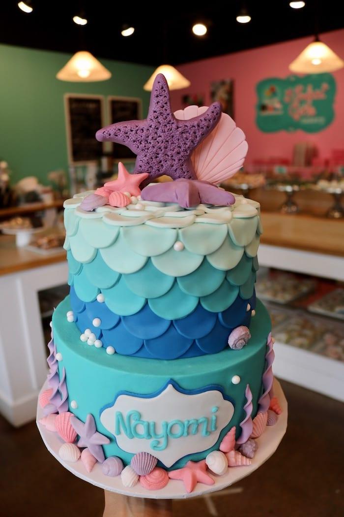 2 Tier Mermaid Cake | 3 Sweet Girls Cakery
