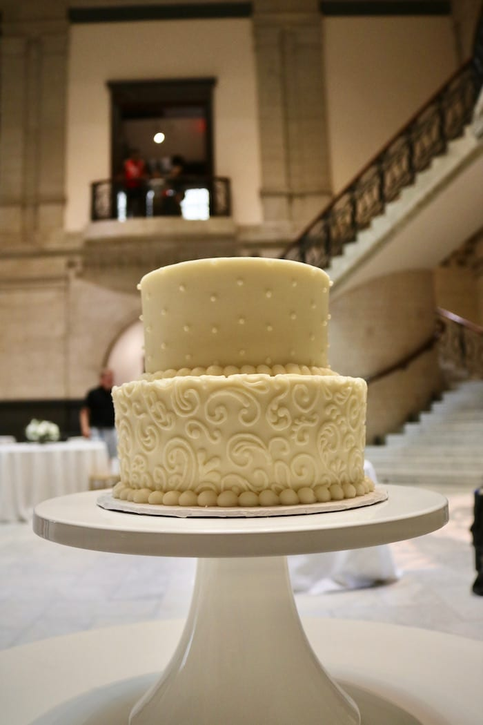 2 Tier Wedding Cake Cincinnati Art Museum | 3 Sweet Girls Cakery