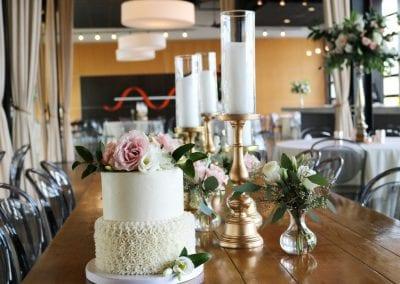 2 Tier Wedding Cake at New Riff | 3 Sweet Girls Cakery