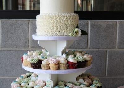 2 Tier Wedding Cupcake Tower | 3 Sweet Girls Cakery
