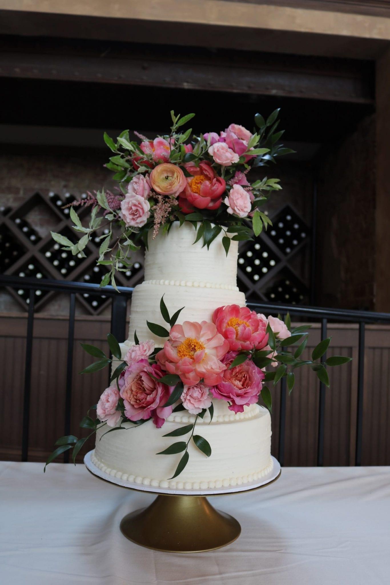 3 Tier Textured Buttercream Wedding Cake| 3 Sweet Girls Cakery