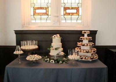 3 Tier Wedding Cake and Dessert Table   3 Sweet Girls Cakery