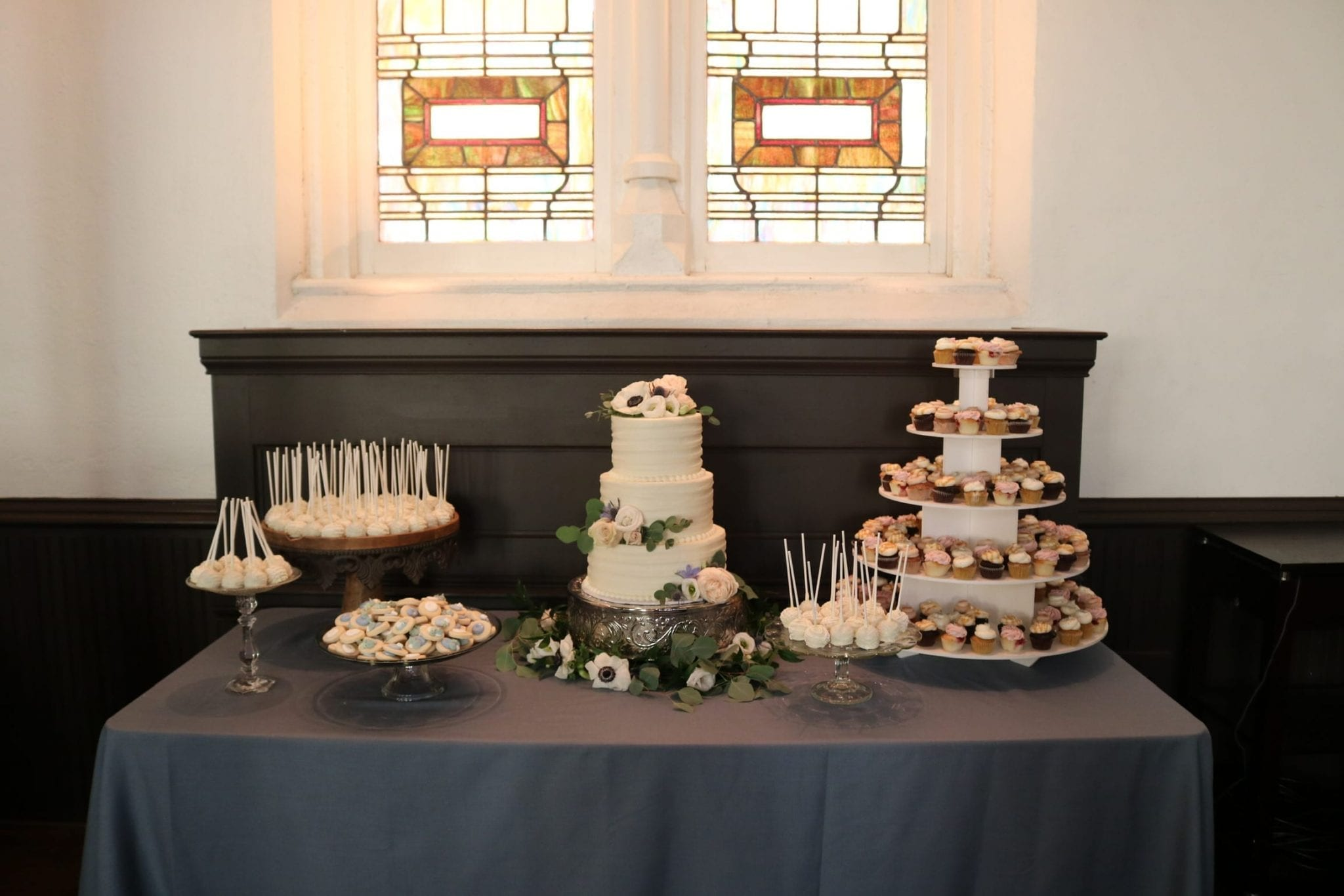 3 Tier Wedding Cake and Dessert Table | 3 Sweet Girls Cakery