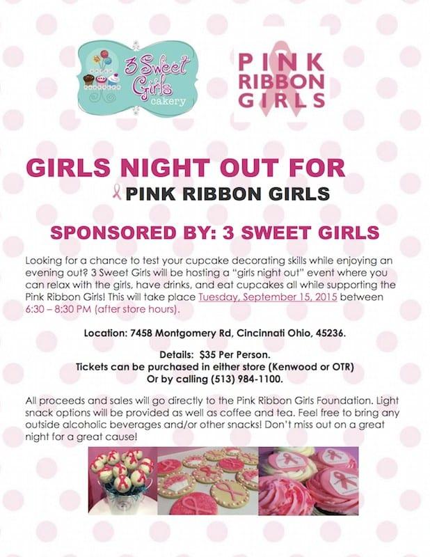 pink ribbon girls girls night out
