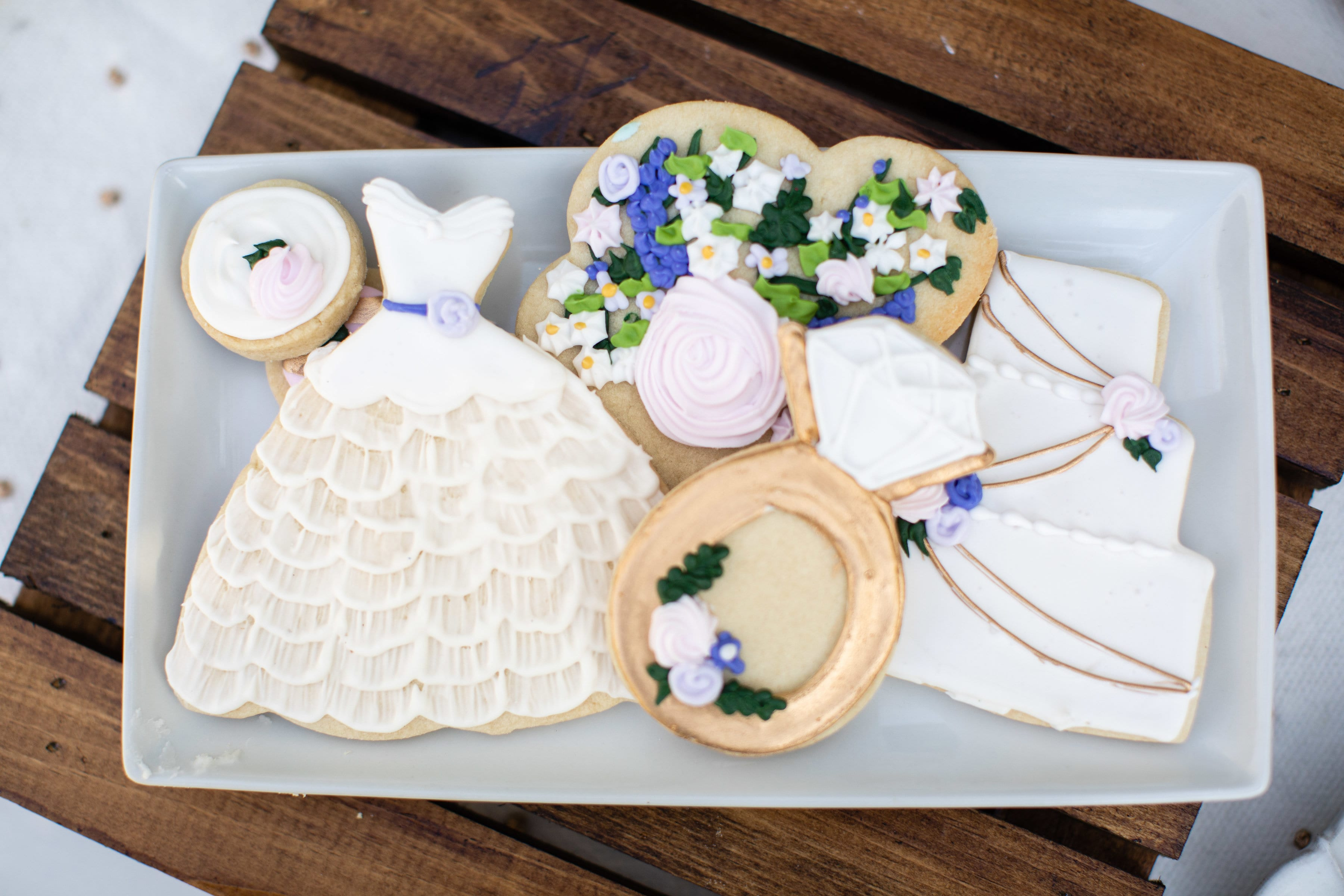 Wedding Cookies | 3 Sweet Girls Cakery