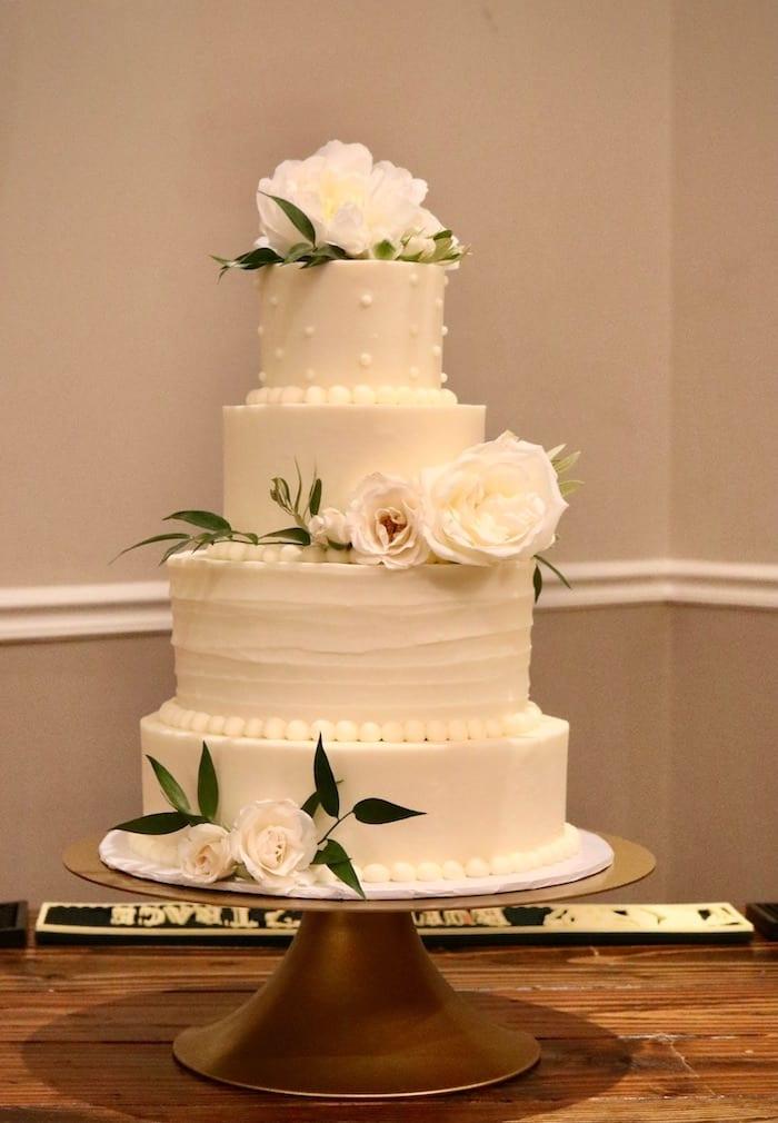 4 Tier Wedding Cake by 3 Sweet Girls Cakery