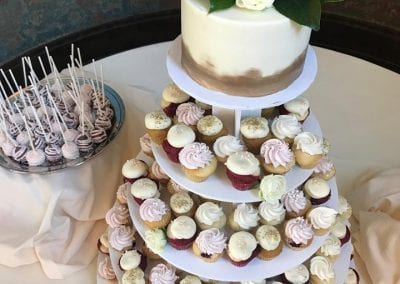 Wedding Cake, Cupcakes and Cake Pops at The Monastery   3 Sweet Girls Cakery