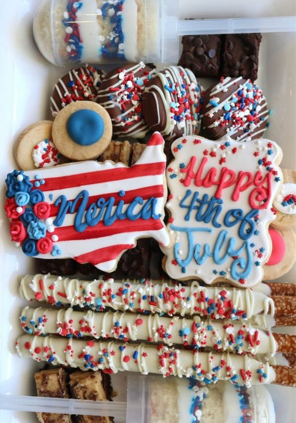 4th of July Dessert Platter | 3 Sweet Girls Cakery