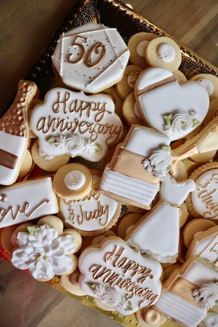 50th Wedding Anniversary Cookies   3 Sweet Girls Cakery