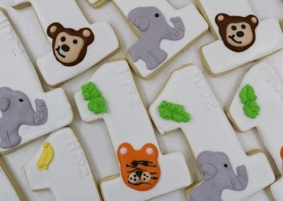 Animal Themed First Birthday Cookies | 3 Sweet Girls Cakery