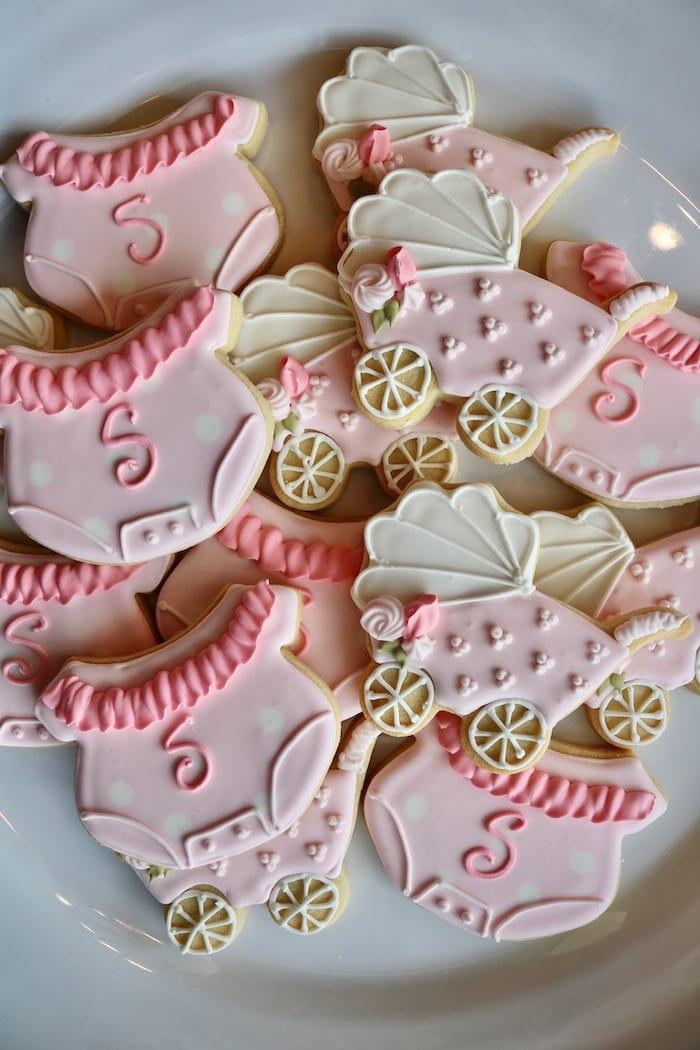 Baby Onsie and Stroller Cookies | 3 Sweet Girls Cakery
