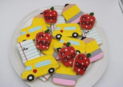 Back to School Cookies | 3 Sweet Girls Cakery