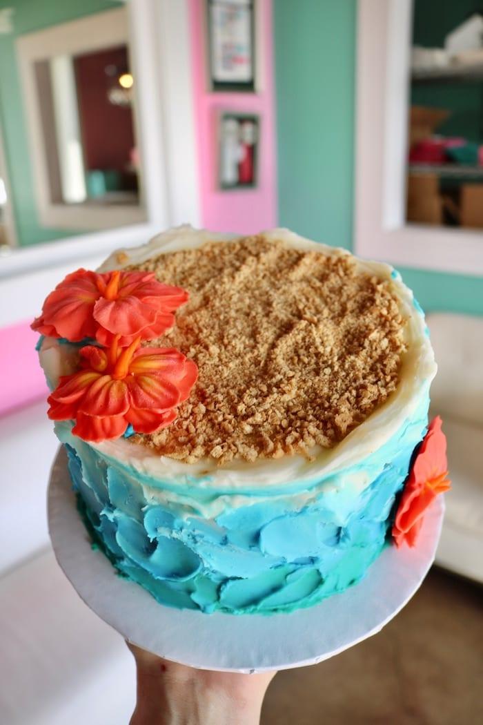 Beach Theme Cake | 3 Sweet Girls Cakery