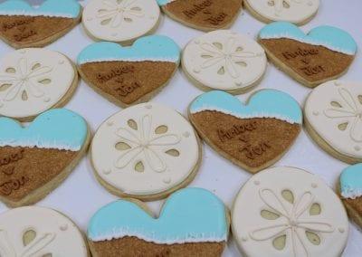 Beach Wedding Cookies   3 Sweet Girls Cakery