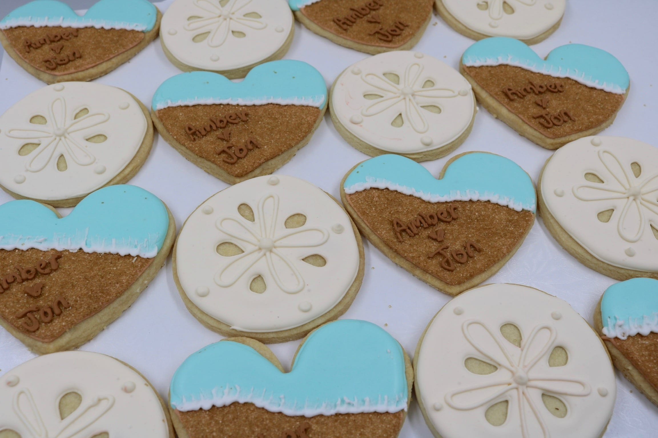 Beach Wedding Cookies | 3 Sweet Girls Cakery