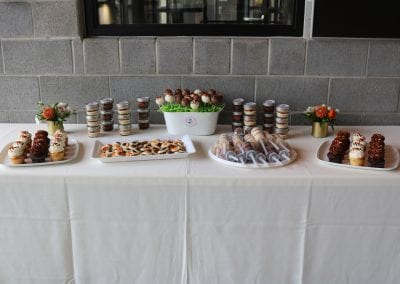 Bengals Dessert Table at New Riff | 3 Sweet Girls Cakery
