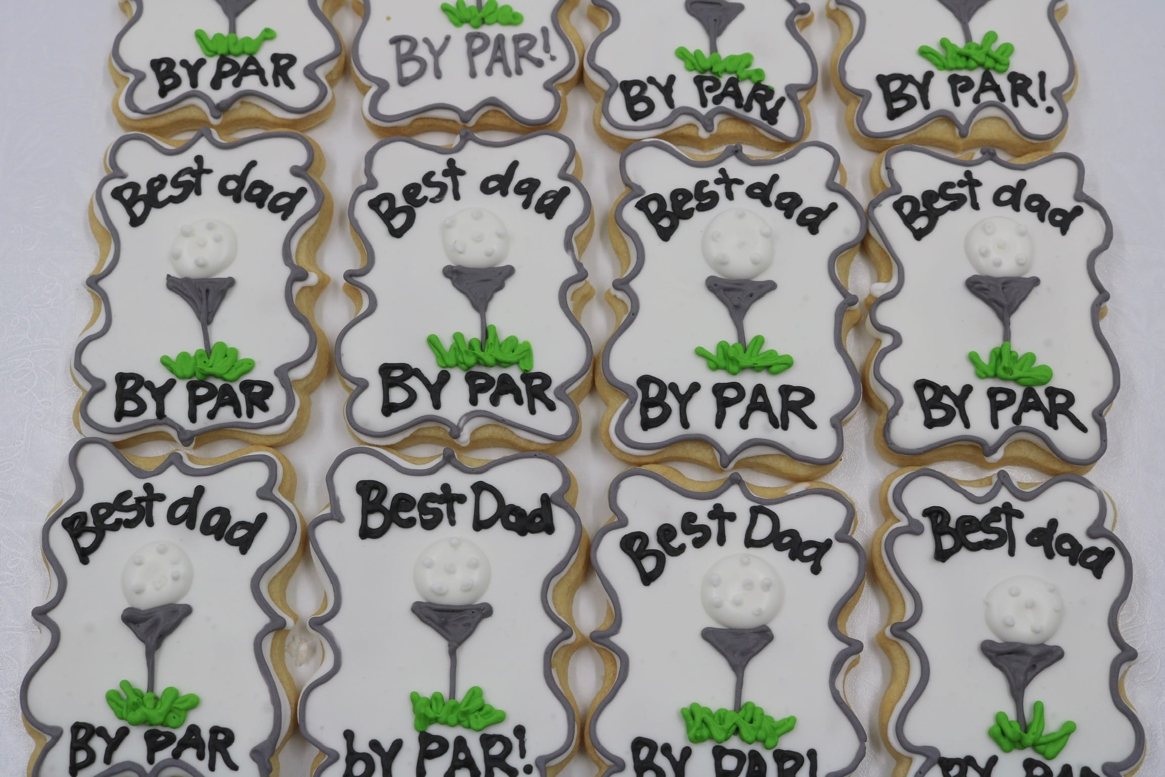 Best Dad by Par Fathers Day Cookies | 3 Sweet Girls Cakery