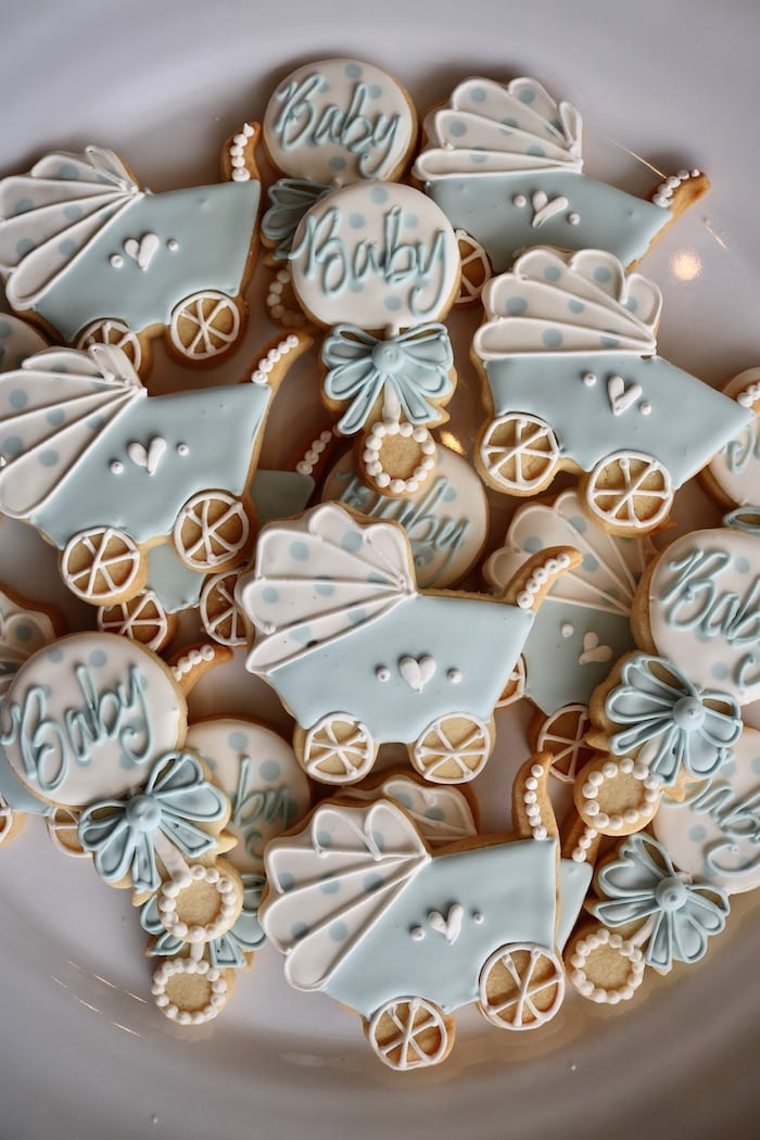 Blue and White Baby Cookies | 3 Sweet Girls Cakery