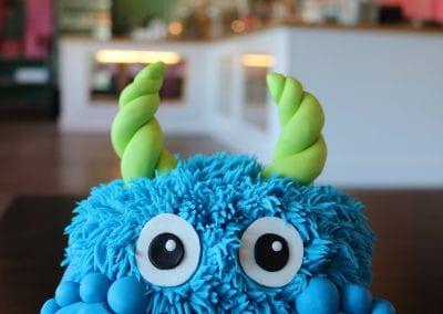 Blue Monster Smash Cake | 3 Sweet Girls Cakery