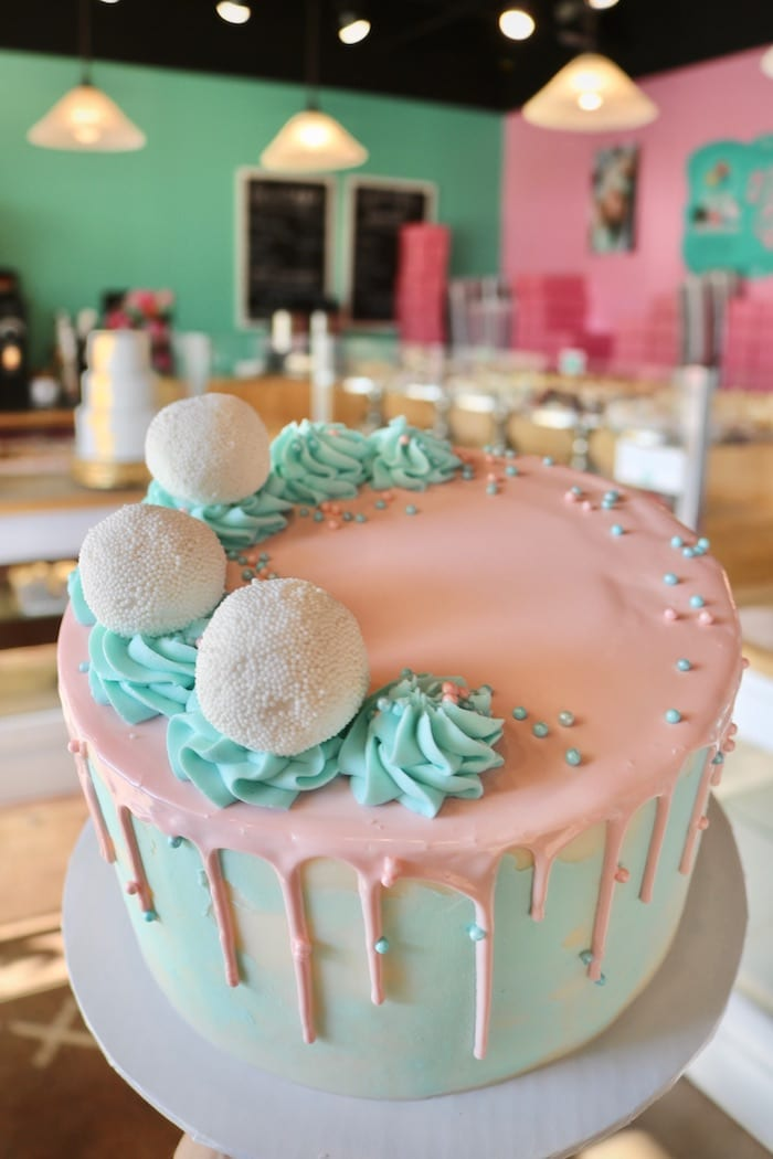 Blue and Pink Baby Shower or Gender Reveal Cake | 3 Sweet Girls Cakery