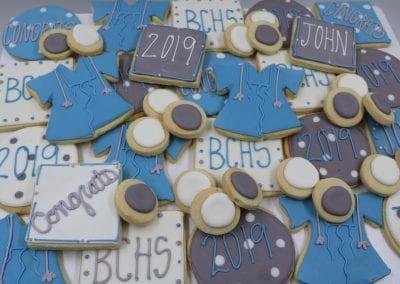 Blue and Purple Graduation Cookies | 3 Sweet Girls Cakery