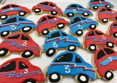 Blue and Red Car Cookies | 3 Sweet Girls Cakery