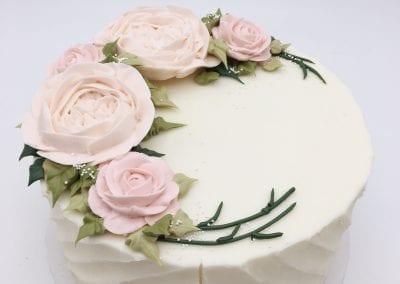 Blush Buttercream Flower Cake | 3 Sweet Girls Cakery