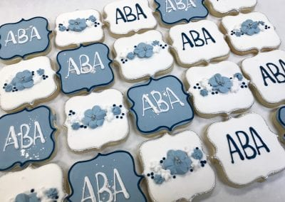 Bridal Shower Monogram Cookie Favors | 3 Sweet Girls Cakery