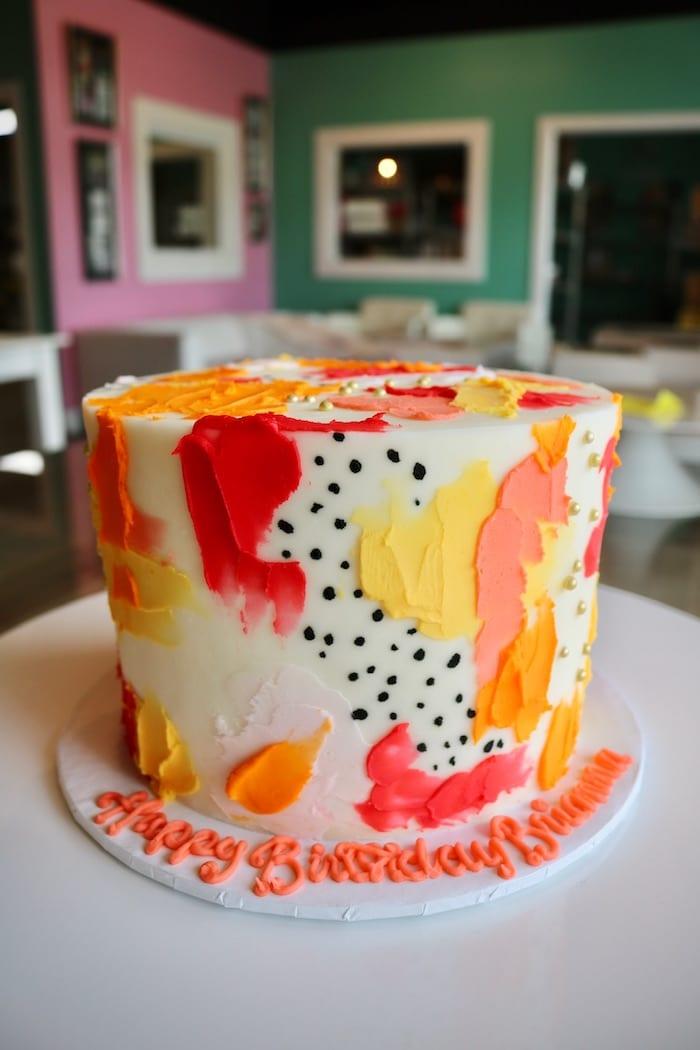 Bright Celebration Cake   3 Sweet Girls Cakery