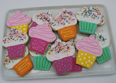 Bright Cupcake Cookies | 3 Sweet Girls Cakery
