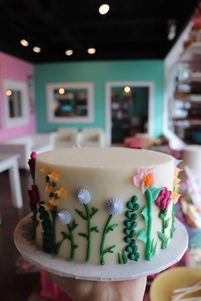 Bright Spring Floral Cake   3 Sweet Girls Cakery
