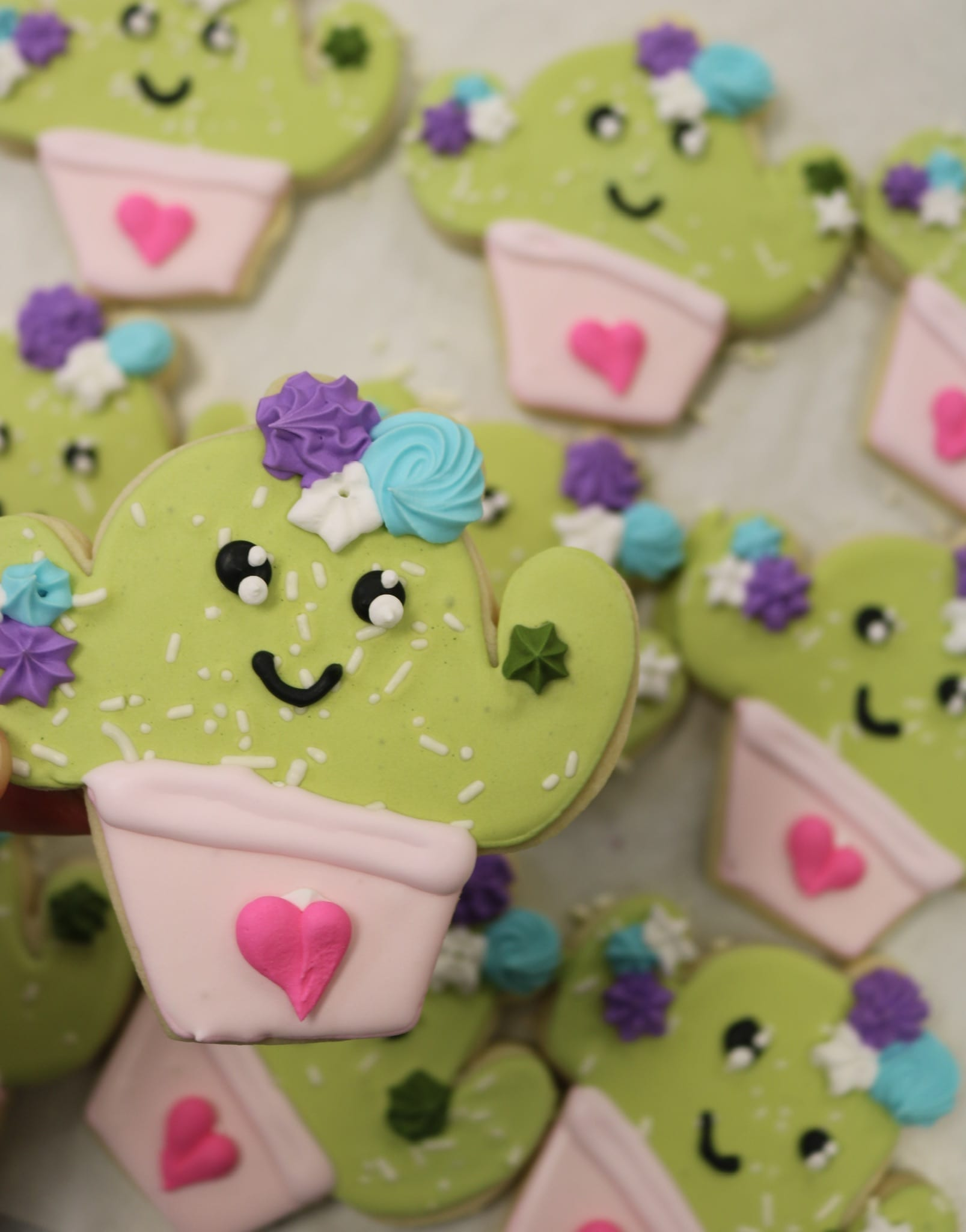 Cactus Cookies | 3 Sweet Girls Cakery