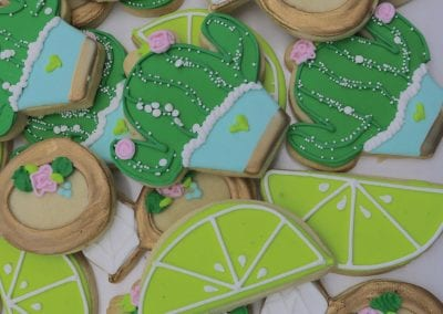 Cactus, Limes and Engagement Ring Cookies | 3 Sweet Girls Cakery