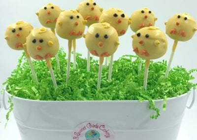 Chick Cake Pops | 3 Sweet Girls Cakery