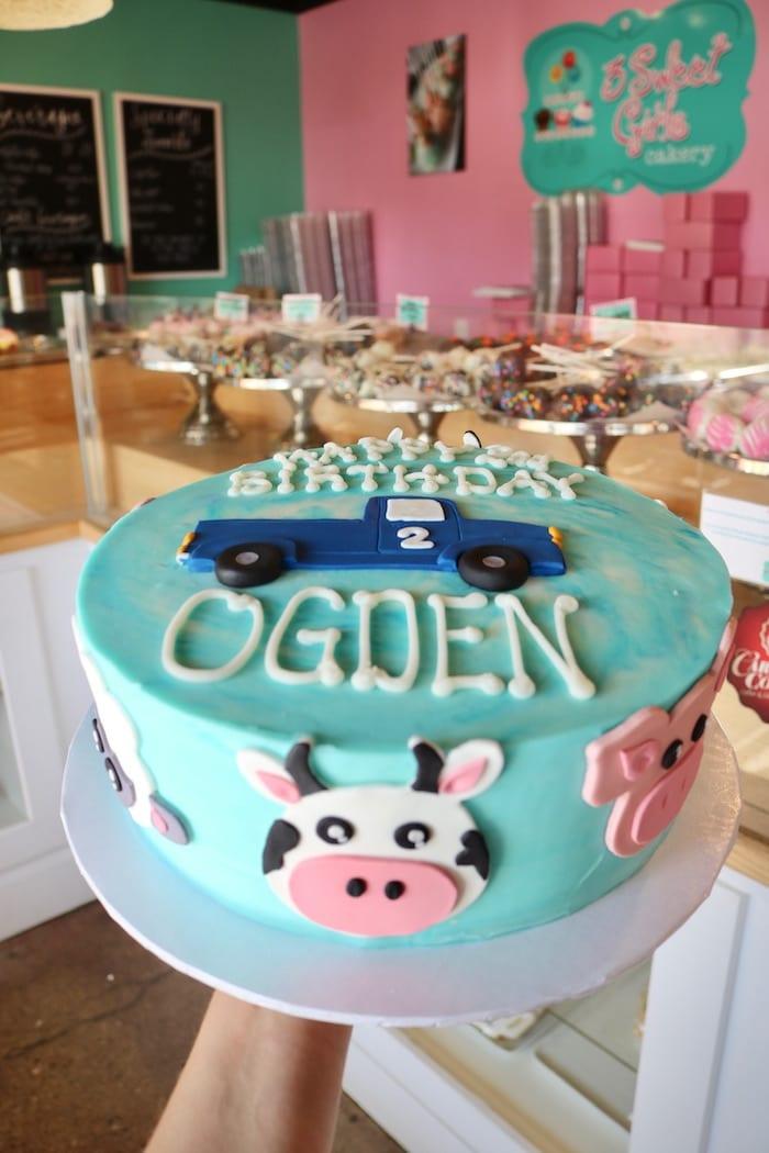 Children's Little Blue Truck Farm Cake | 3 Sweet Girls Cakery