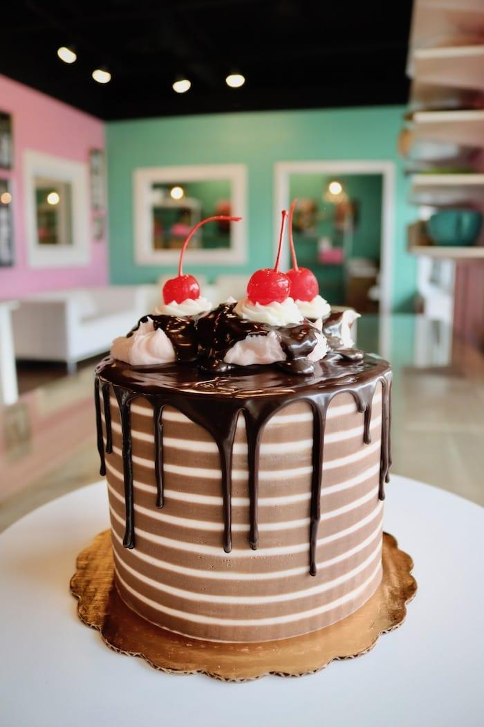 Chocolate Cherry Drip Cake   3 Sweet Girls Cakery