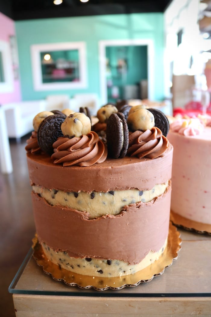 Chocolate Oreo Cookie Dough Cake   3 Sweet Girls Cakery