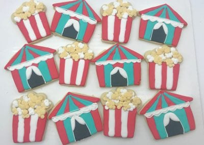 Circus Tent and Popcorn Cookies | 3 Sweet Girls Cakery