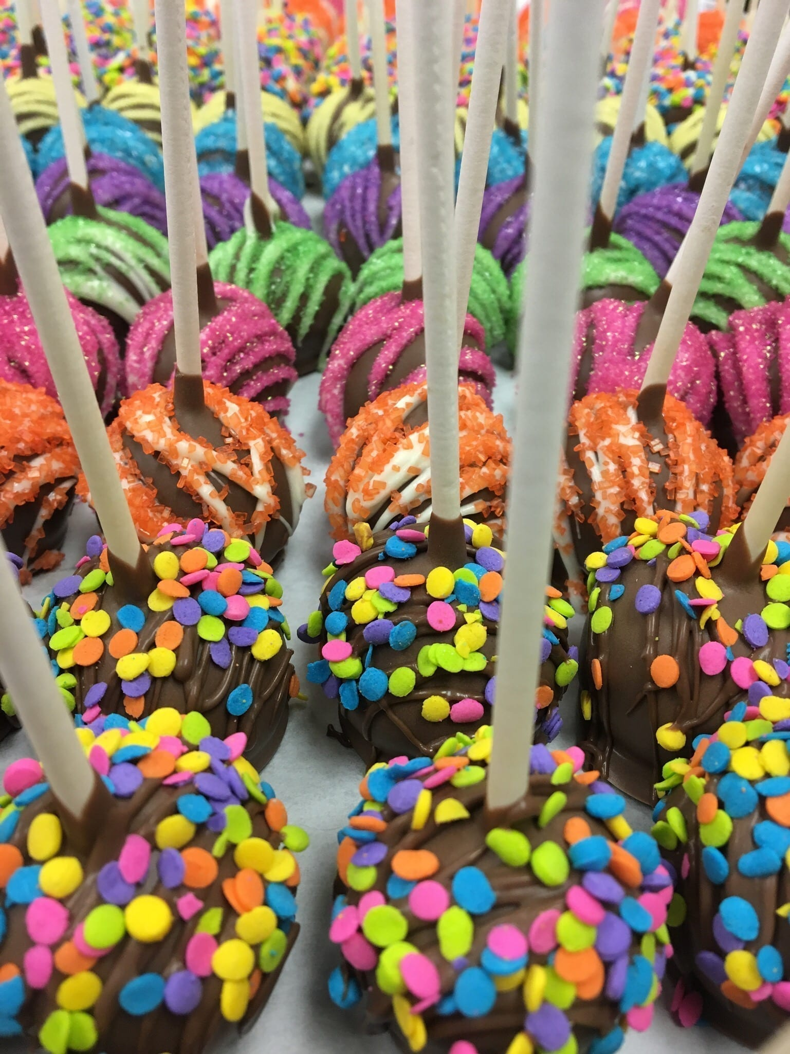 Colorful Cake Pops | 3 Sweet Girls Cakery