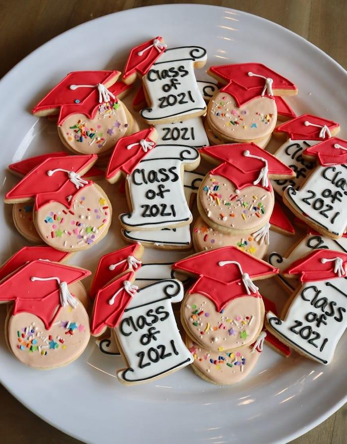 Confetti Grad Cookies | 3 Sweet Girls Cakery